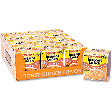 Maruchan Chicken Flavor Instant Lunches, 2.25 Oz, Box Of 12 Lunches