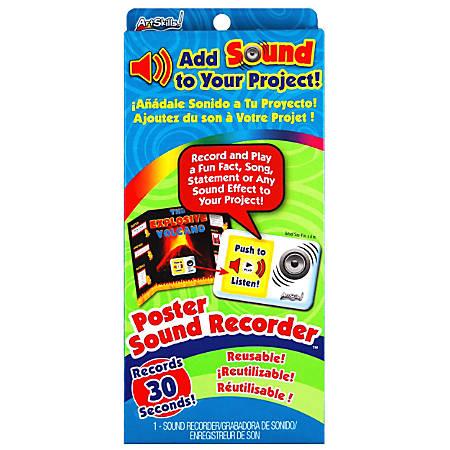 "ArtSkills® Poster Sound Device, 10"" x 4 1/2"", White"