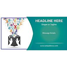 Custom Horizontal Banner Flowing Letters