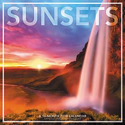 Landmark Sunsets Monthly Wall Calendar 12