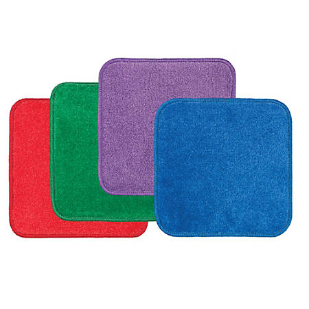 """Flagship Carpets Jumbo Seating Squares, 16"""" x 16"""", Multicolor, Set Of 24"""