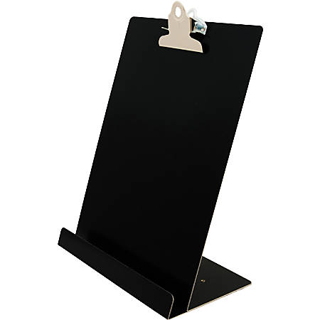 "Saunders Document/Tablet Holder Stand - 12.3"" x 9.5"" x 5"" - Aluminum - 1 Each - Black"
