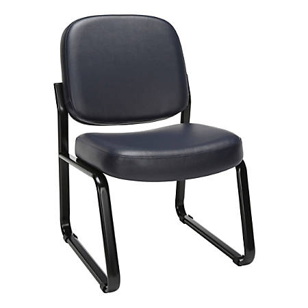 OFM Antimicrobial Reception Chair, Navy/Black