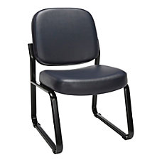 OFM Antimicrobial Reception Chair NavyBlack