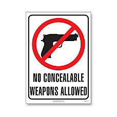 ComplyRight State Weapons Law Poster English