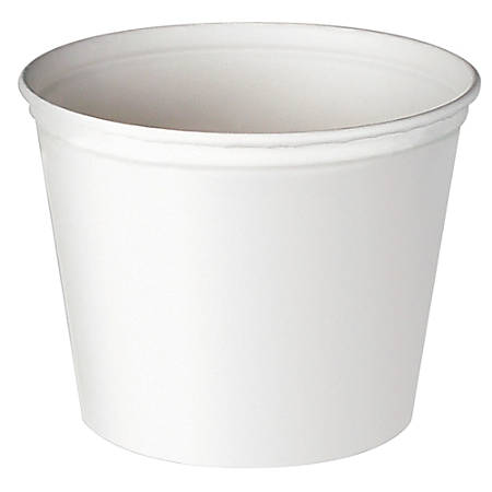 Solo® Double-Wrapped Paper Buckets, 53 Oz, White, 50 Buckets Per Pack, Case Of 6 Packs