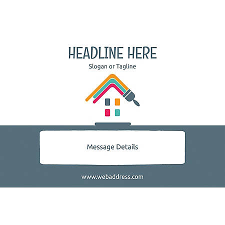 Customizable Window Decal, Horizontal, Paint House