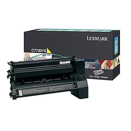 Lexmark™ C7720YX Yellow High-Yield Toner Cartridge