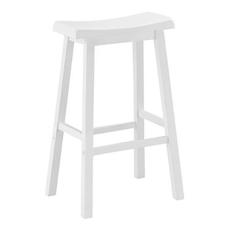 Monarch Specialties Evan Barstools, White, Set Of 2 Stools