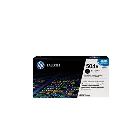 HP 504A, Black Original Toner Cartridge (CE250A)