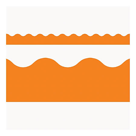 "TREND Terrific Trimmer® Borders, 2 1/4"" x 39"", Orange, Pre-K - Grade 12, Pack Of 12"