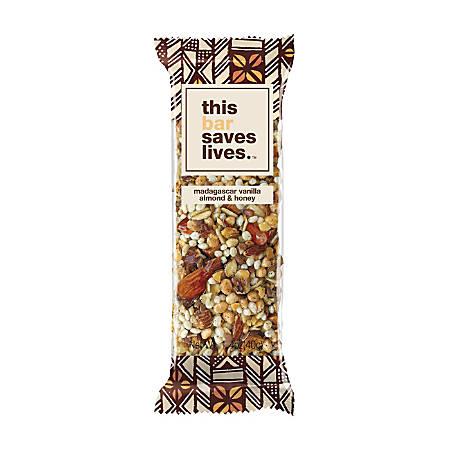 This Bar Saves Lives Madagascar Vanilla Almond And Honey Granola Bar, 1.4 Oz