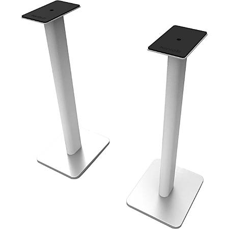 "Kanto SP26PLW 26"" Bookshelf Speaker Floor Stands, White - 26"" Height x 8.9"" Width x 10.6"" Depth - Floor - Foam, Steel - White"