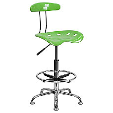 Flash Furniture Vibrant Drafting Stool Spicy