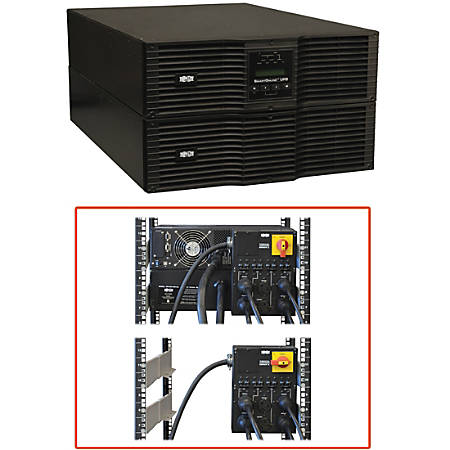 Tripp Lite UPS Smart Online 8000VA 7200W Rackmount 8kVA 200V-240V USB DB9 Manual Bypass Hot Swap 50A Plug 6URM - 6 Minute Full Load - 8kVA - SNMP Manageable