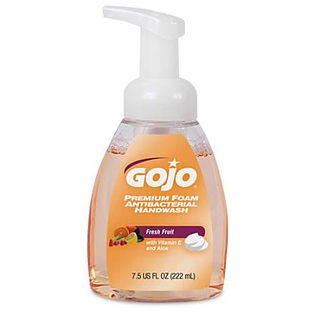 GOJO® Premium Foam Antibacterial Soap With Pump, Fresh Fruit, 7.5 Oz. Pump