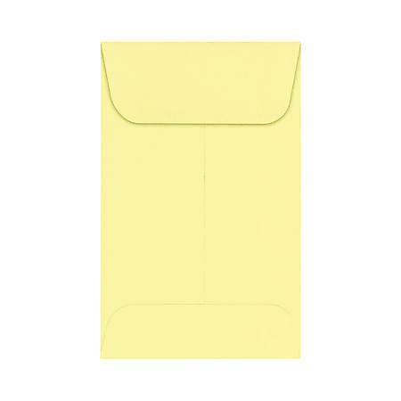 "LUX Coin Envelopes, #1, 2 1/4"" x 3 1/2"", Lemonade, Pack Of 1,000"
