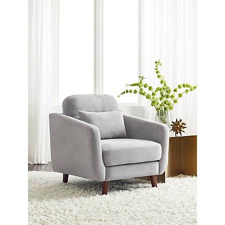 Serta Sierra Collection Arm Chair, Smoke Gray/Chestnut