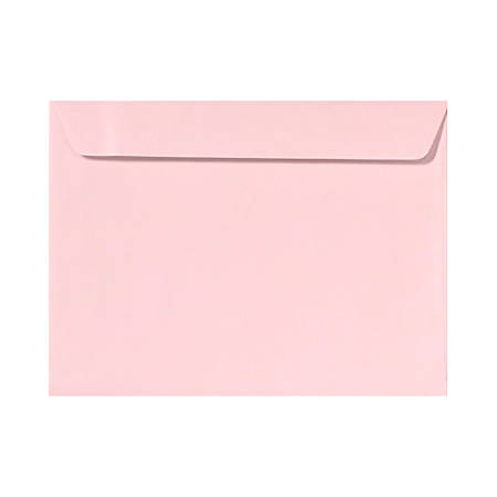 """LUX Booklet Envelopes With Moisture Closure, #9 1/2, 9"""" x 12"""", Candy Pink, Pack Of 50"""