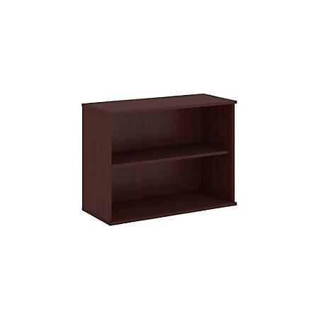 "Bush Business Furniture 2 Shelf Bookcase, 30""H, Harvest Cherry, Premium Installation"