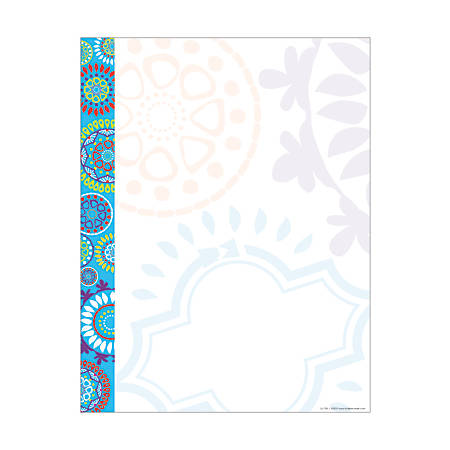 """Barker Creek Computer Paper, 8 1/2"""" x 11"""", Moroccan, Pack Of 50 Sheets"""