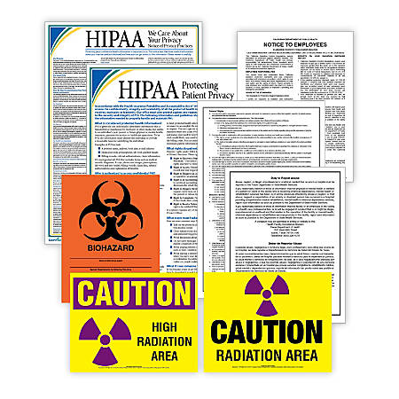 ComplyRight Healthcare Poster Kit, English, Massachusetts, Federal/State Posters