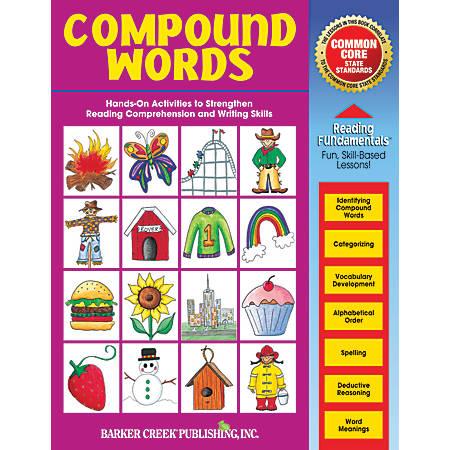 Barker Creek Grammar Activity Book, Compound Words, Grades 1 To College