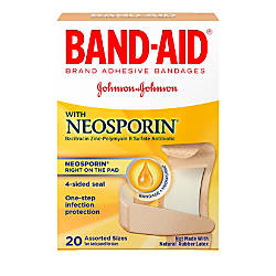 Band Aid Brand Antibiotic Bandages Assorted