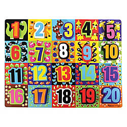 Melissa Doug Jumbo Numbers Chunky Puzzle