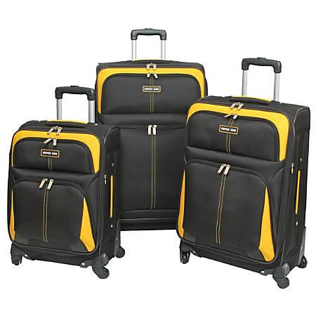 Overland Geoffrey Beene Golden Gate 3-Piece Luggage Set, Black/Gold