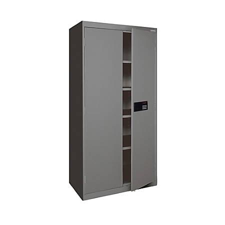 """Sandusky® Keyless Electronic Storage Cabinet, 72""""H x 36""""W x 18""""D, Charcoal"""