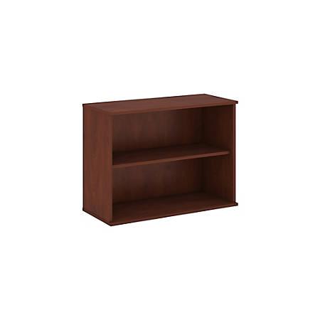 """Bush Business Furniture 2 Shelf Bookcase, 30""""H, Hansen Cherry, Premium Installation"""