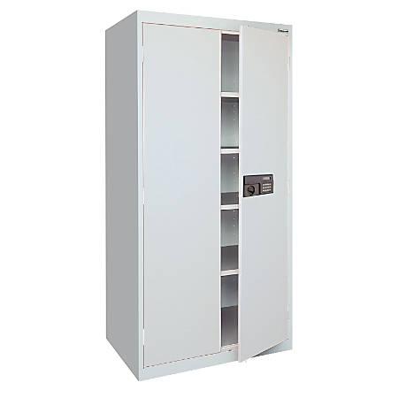 "Sandusky® Keyless Electronic Storage Cabinet, 72""H x 36""W x 18""D, Dove Gray"