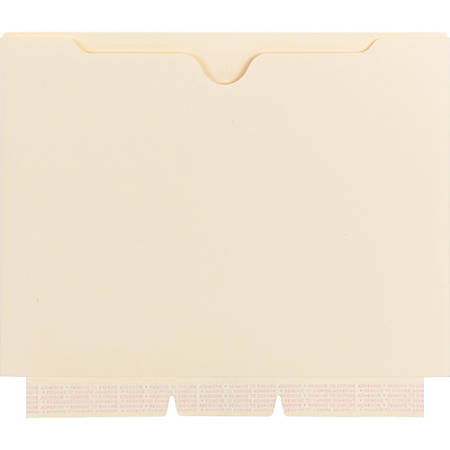 """Smead Self-adhesive Manila Jackets - Letter - 8 1/2"""" x 11"""" Sheet Size - Manila - Recycled - 10 / Pack"""