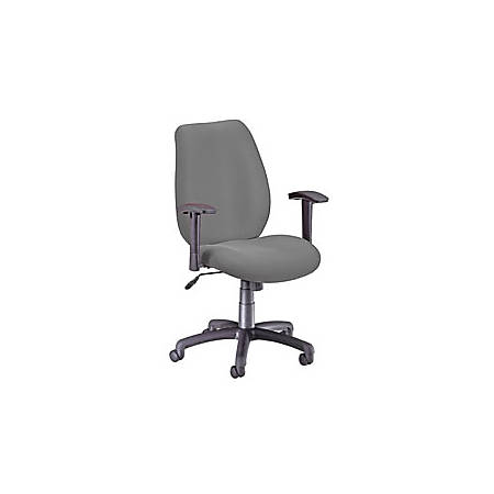 "OFM Ergonomic Fabric Chair, 40""H x 26""W x 29 1/2""D, Black Frame, Graphite Fabric"