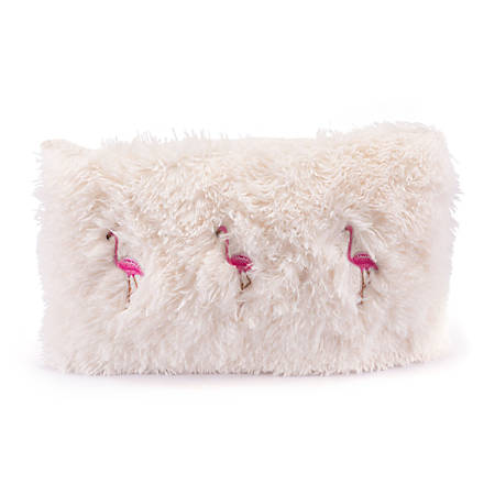 Zuo Modern Dancing Flamingos Pillow, Ivory/Pink