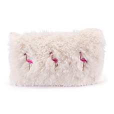 Zuo Modern Dancing Flamingos Pillow IvoryPink