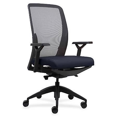 Lorell® Mesh/Fabric High-Back Chair, Dark Blue