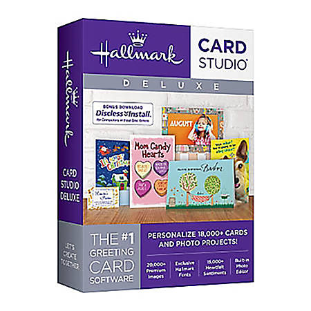 Hallmark Card Studio Deluxe 2018, Download Version