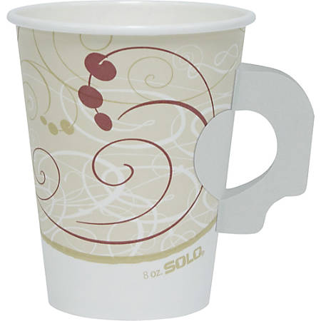 Solo Poly Lined Paper Hot Cups - 8 fl oz - 50 / Pack - Beige - Paper - Hot Drink, Coffee, Tea, Cocoa
