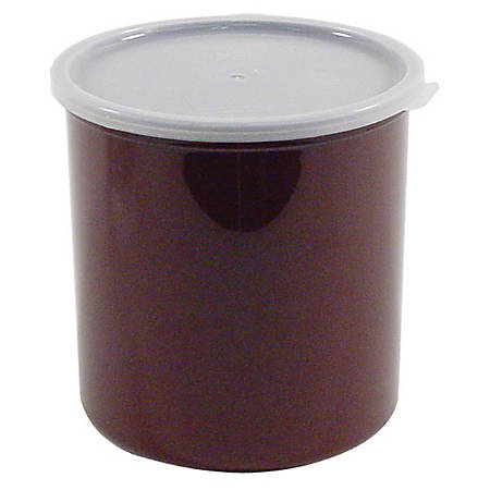 Cambro Crock With Lid, 2.7 Qt, Brown