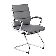 Boss Guest Chair GrayChromeGray