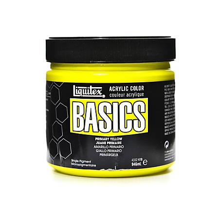 Liquitex Basics Acrylic Paint, 32 Oz Jar, Primary Yellow