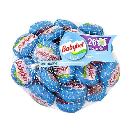 Babybel Mini Light Cheese Wheels, Pack Of 26 Wheels