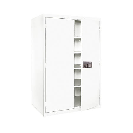 "Sandusky® Keyless Electronic Storage Cabinet, 78""H x 46""W x 24""D, Standard White"