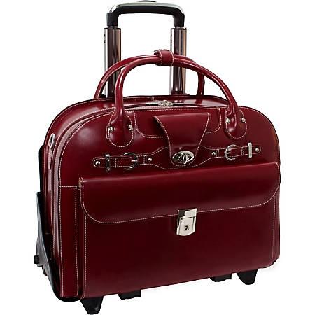 McKleinUSA Roseville Leather Ladies Briefcase, Red