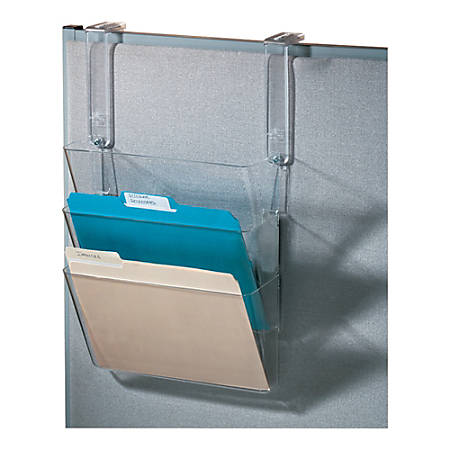 Office Depot® Brand Letter-Size Hanging Pocket Set, Clear