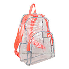 Eastsport Clear PVC Backpack Coral