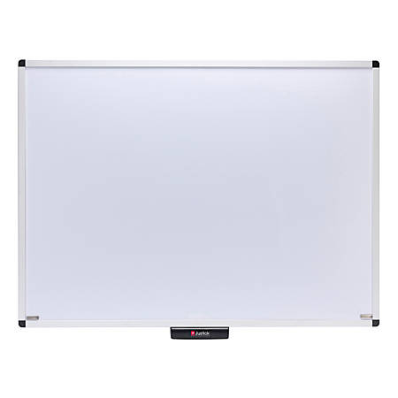 "Smead® Justick Dry-Erase White Board, Aluminum, 48"" x 36"", White, Aluminum Frame"