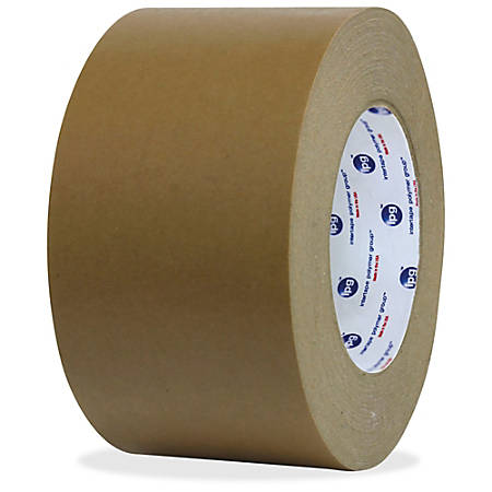 """ipg Medium Grade Flatback Tape - 2"""" Width x 60 yd Length - Synthetic Rubber Backing - 24 / Carton - Brown"""